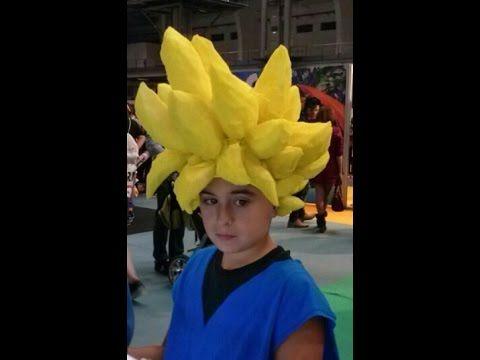 Cómo Hacer Una Peluca Goku Como Hacer Una Peluca Disfraz De Goku Peluca De Goku
