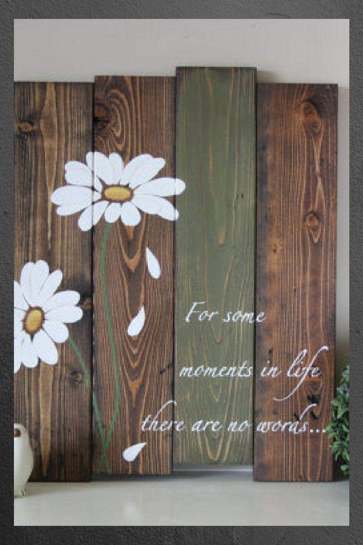 Reclaimed wood wall art pallet wall art daisy wall art pallet