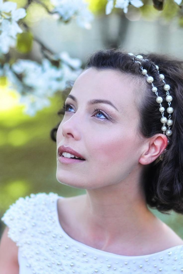 Pearl Headpiece Bridal Headpiece Wedding Pearl Headband Bridal