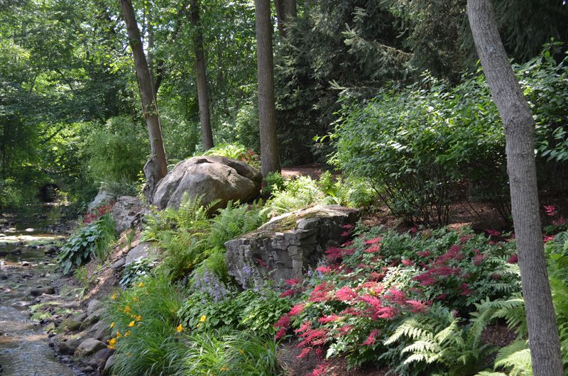 Designing A Shade Garden shade garden design ideas simple shade garden design shade garden plans smart design tips and ideas Boulder And Stone Natural Shade Garden Ideas Allendale