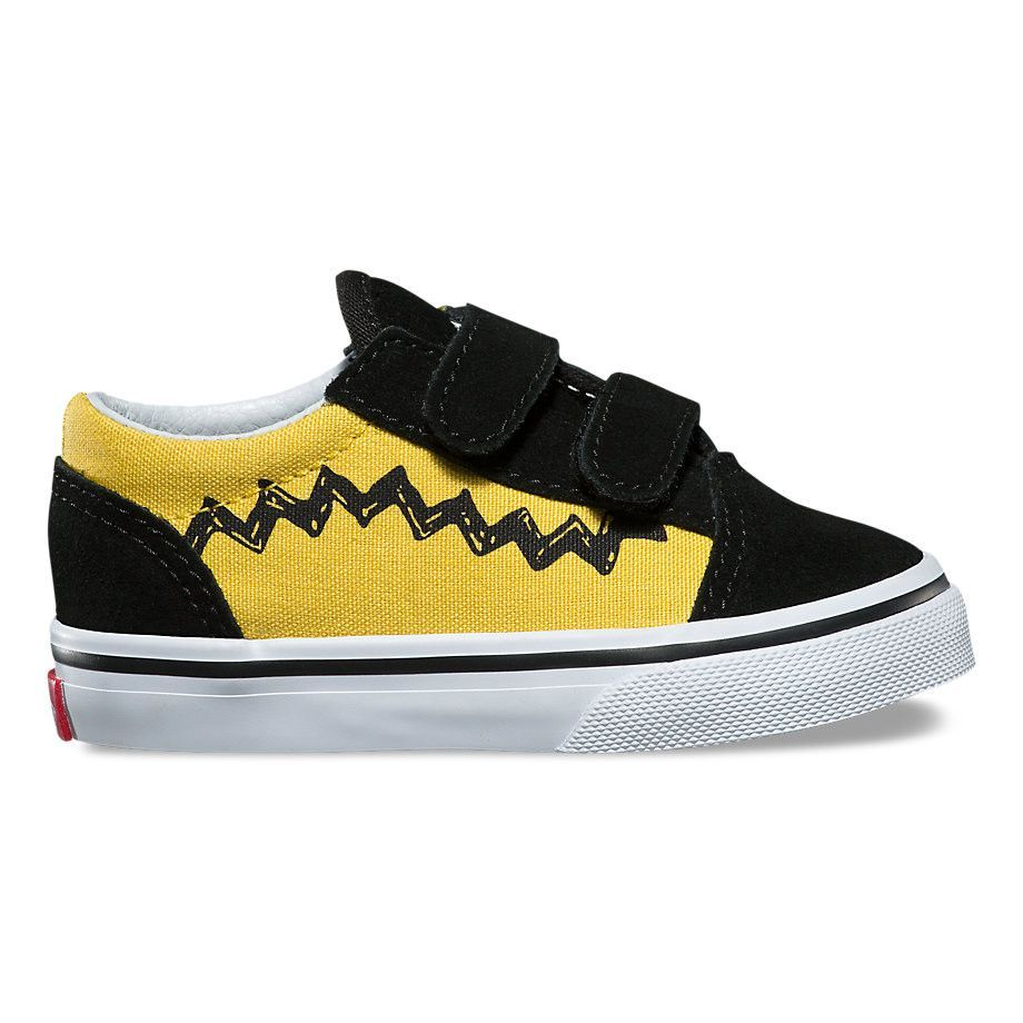 TODDLER VANS X PEANUTS OLD SKOOL V CHARLIE BROWN ZIG ZAG