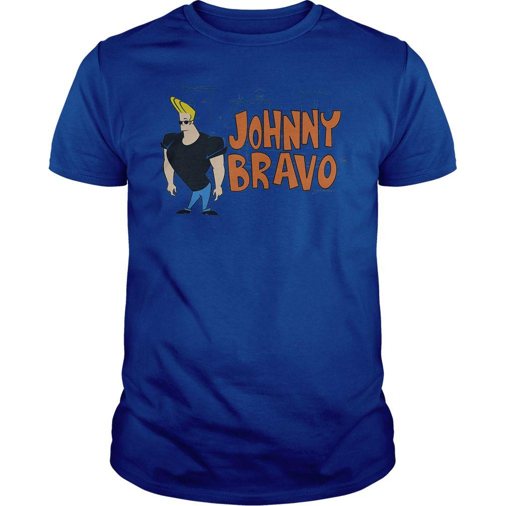 Johnny Bravo Johnny Logo Printed shirts, Johnny bravo
