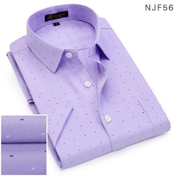 New High Quality Men Shirt Business Shirts Casual Short Sleeve Men's Dress Shirt Social Fashion Clothes Slim Fit #shortsleevedressshirts