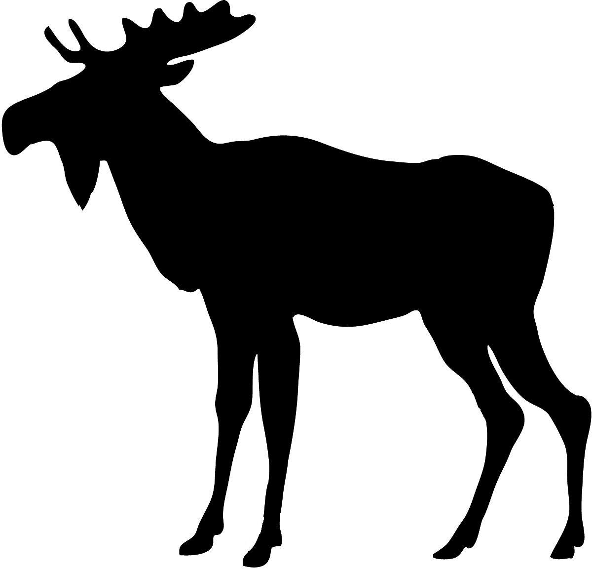 animal silhouette animal silhouette moose 2 jpg clocks