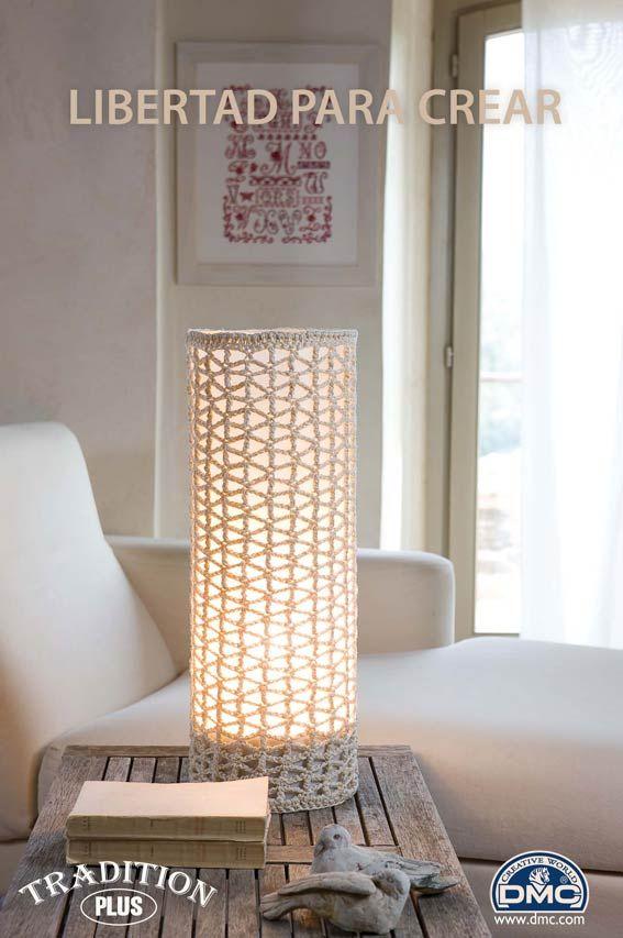 El blog de Dmc Como hacer una lámpara de ganchillo lampen