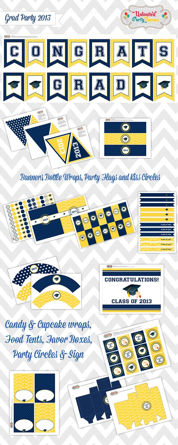 FREE Graduation Party Printables from Unlimited Party Themes