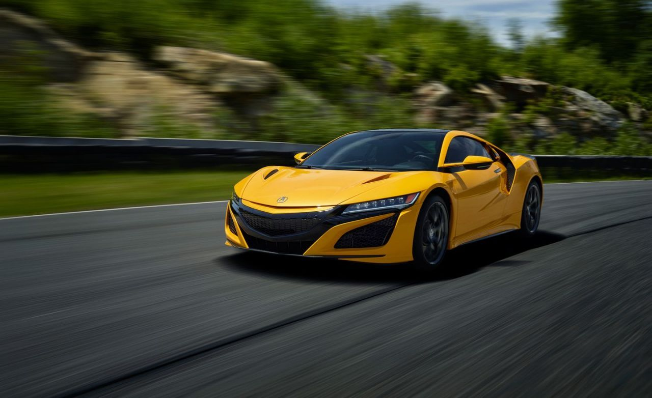 View Photos of the 2020 Acura NSX in Indy Yellow Pearl