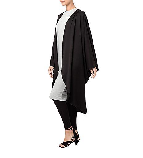 BLACK BATWING CARDIGAN | Hijab style | Pinterest | Fashion black ...
