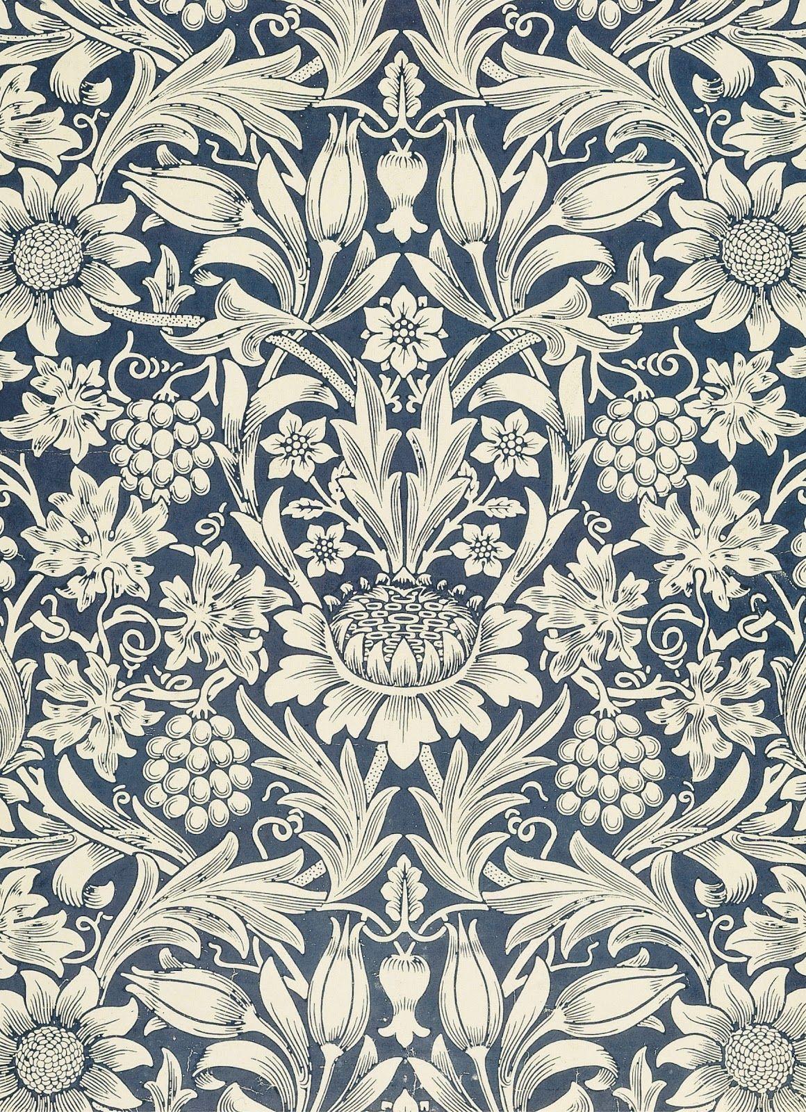 C v a motifs tapisserie et motifs floraux - Motif tapisserie ...
