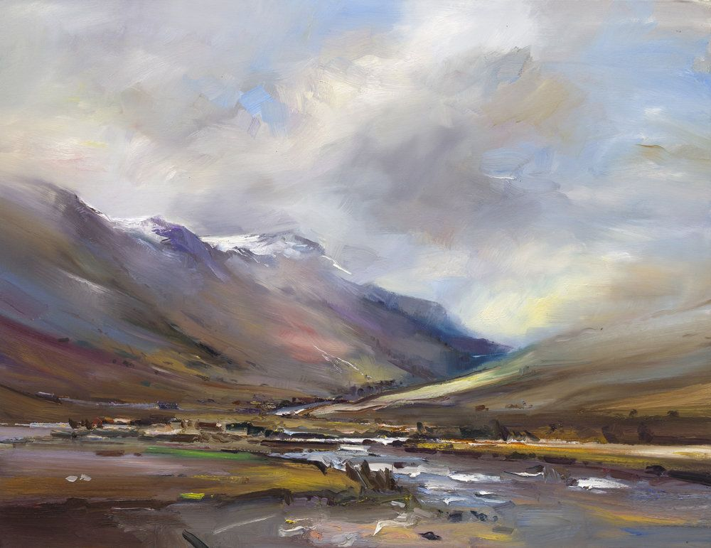 The First Snow Honister Pass Lake District Easy Landscape Paintings Lake District Landscape Paintings