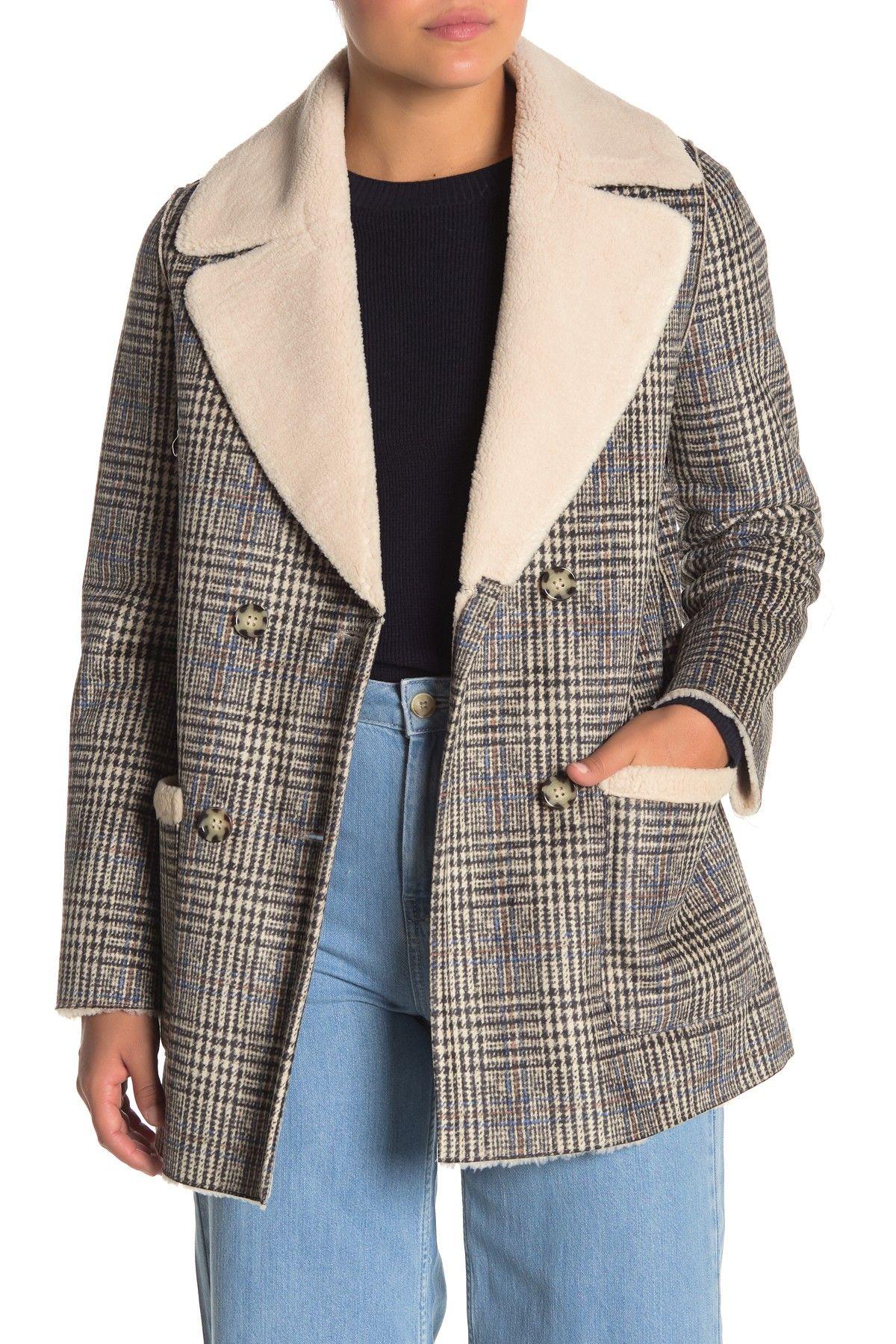 Love Token   Roman Faux Shearling Lined Plaid Jacket #nordstromrack