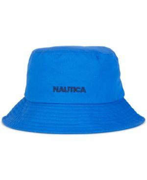 caa3f511060 Nautica Men s Classic Logo Bucket Hat - Blue