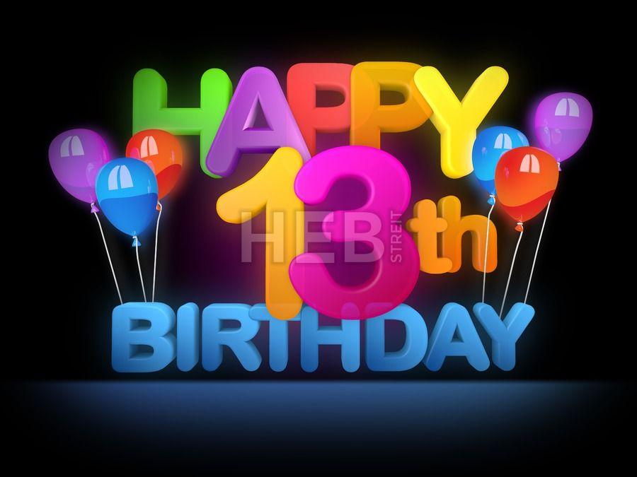 Happy 13th Birthday Title Dark In 2020 Geburtstagsbilder 41
