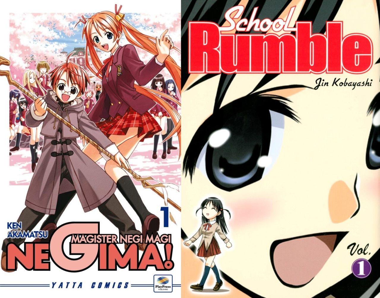 Mahou Sensei Negima! y School Rumble tendrán nuevos Manga one-shot el 15 de marzo.