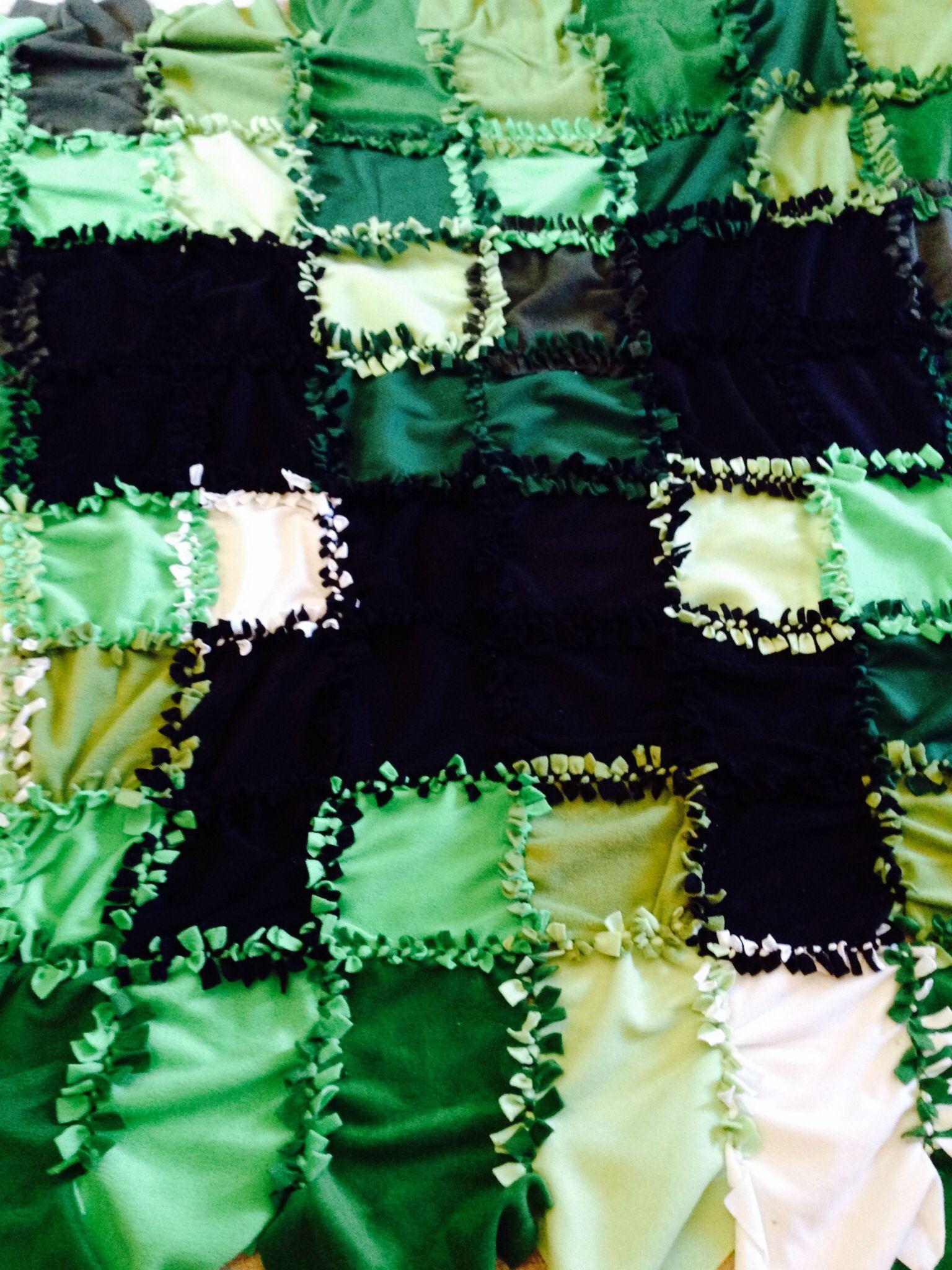 Minecraft patchwork tie fleece blanket children pinterest