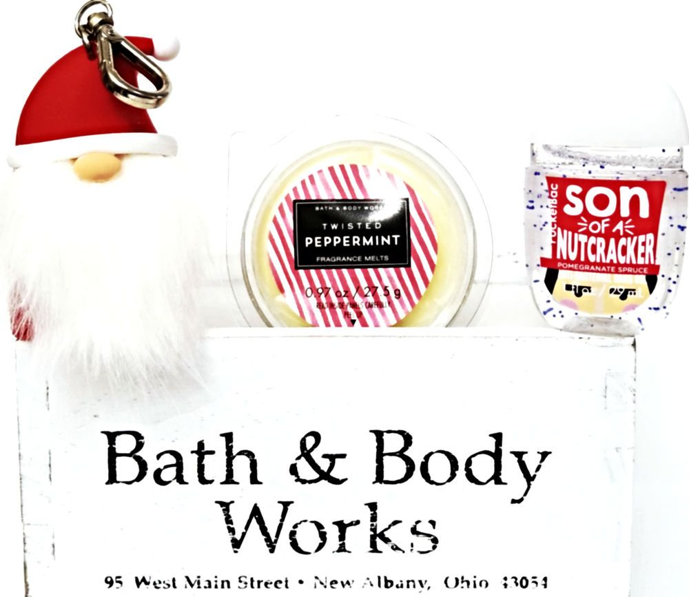 Bath And Body Works Twisted Peppermint Pocketbac Santa Holder
