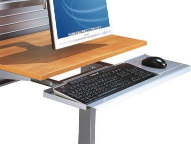 Workstation Accessories Pull Out Keyboard Shelf Computer Workstations Office Environment Furniture