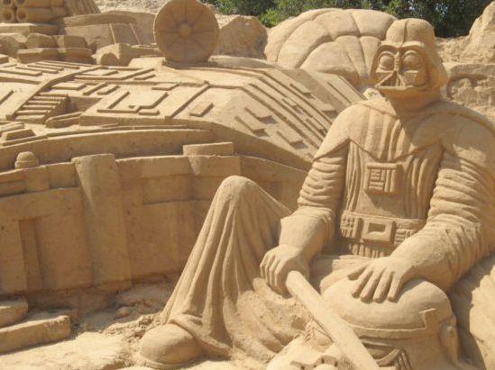 amazing star wars sand art pinterest sand sculptures sand art