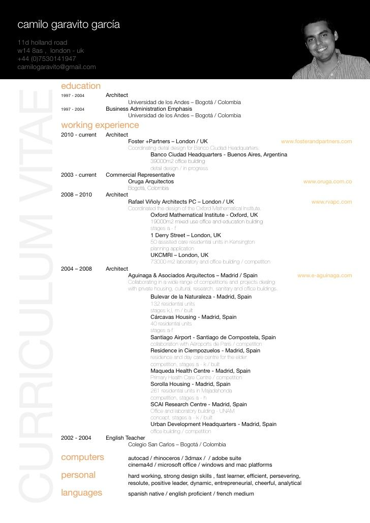 architectural resume examples - Google Search | resume ...