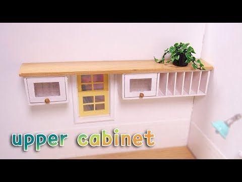 Doll kitchen #06 DIY miniature kitchen Upper cabinet 미니어쳐 상부 수납장 - YouTube #miniaturekitchen