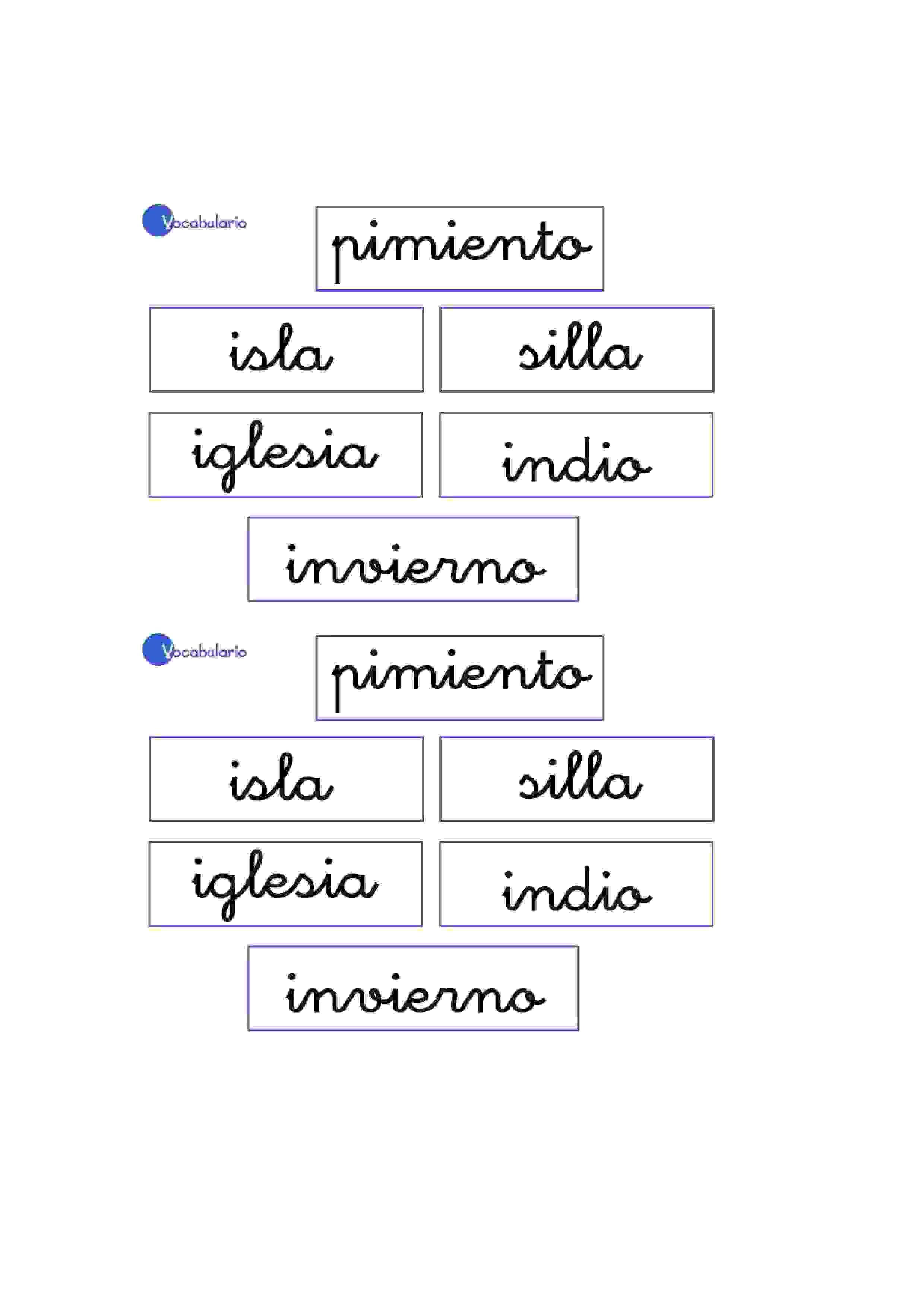 Lernübungen für kinder zu drucken. Vokabular Spanisch zu lernen 9 ...