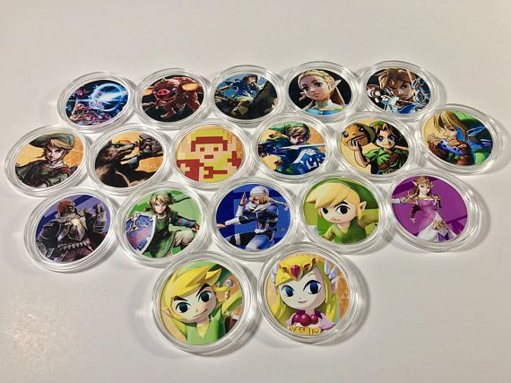 The Legend Of Zelda Breath Of The Wild Amiibo Coins In Hard With