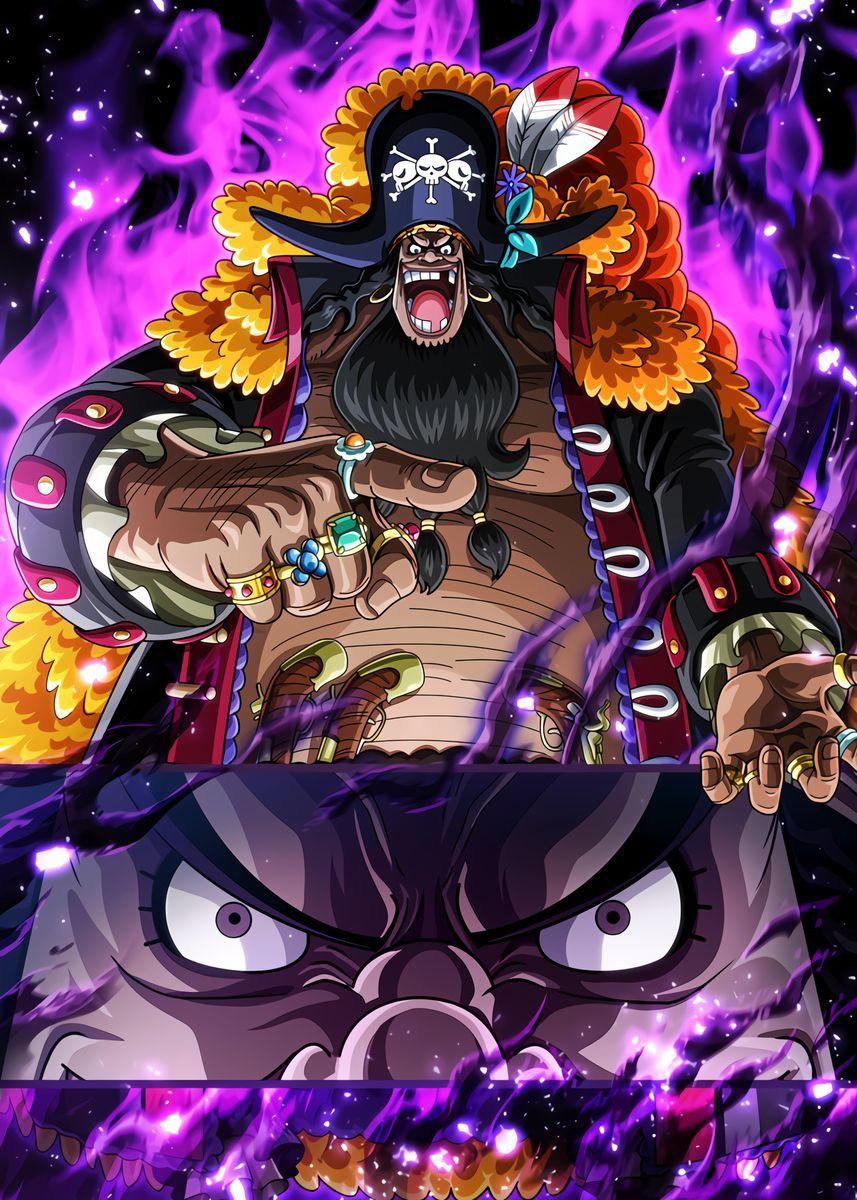 'Blackbeard one piece' Metal Poster Print - OnePie