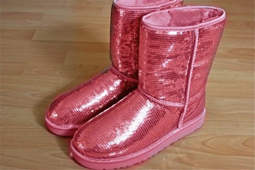 Pink Sparkly Uggs