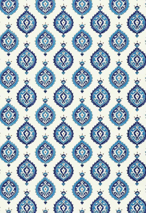 Designer Tapeten Blaues Muster