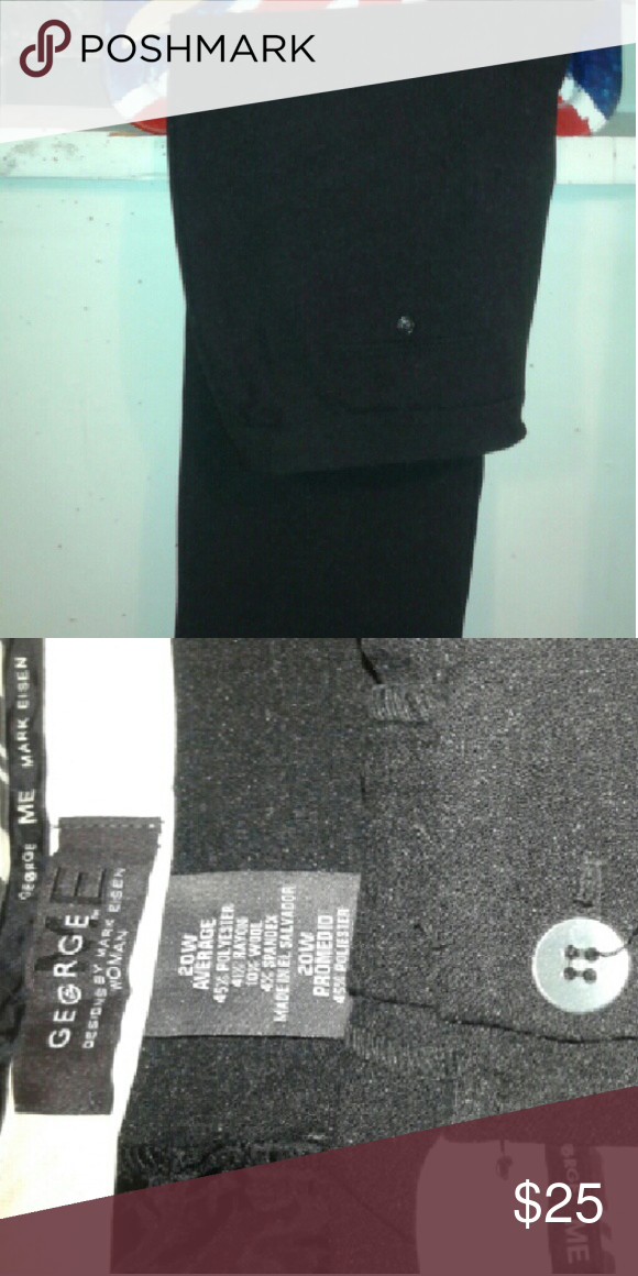 Black Dress Pant These dress pants dress up any outfit.  So comfortable and like new. George Pants Straight Leg