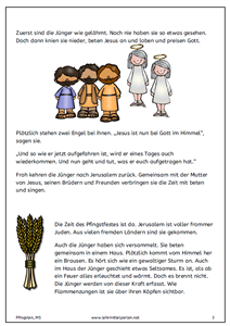 Pfingsten Fur Kinder Erklart Religiose Erziehung Pfingsten Kinder
