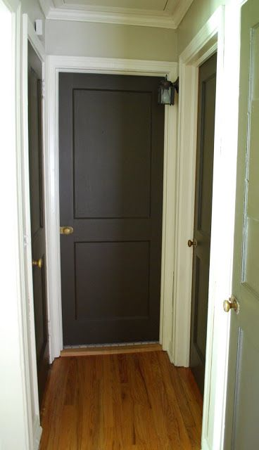 Small Hallway Dark Doors White Trim Small Hallways