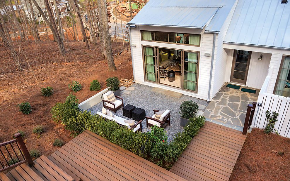 What I Like Is The Mixed Medium (gravel W Wood W Stone) Deck Design Ideas |  Deck Pictures U0026 Patio Designs | Trex