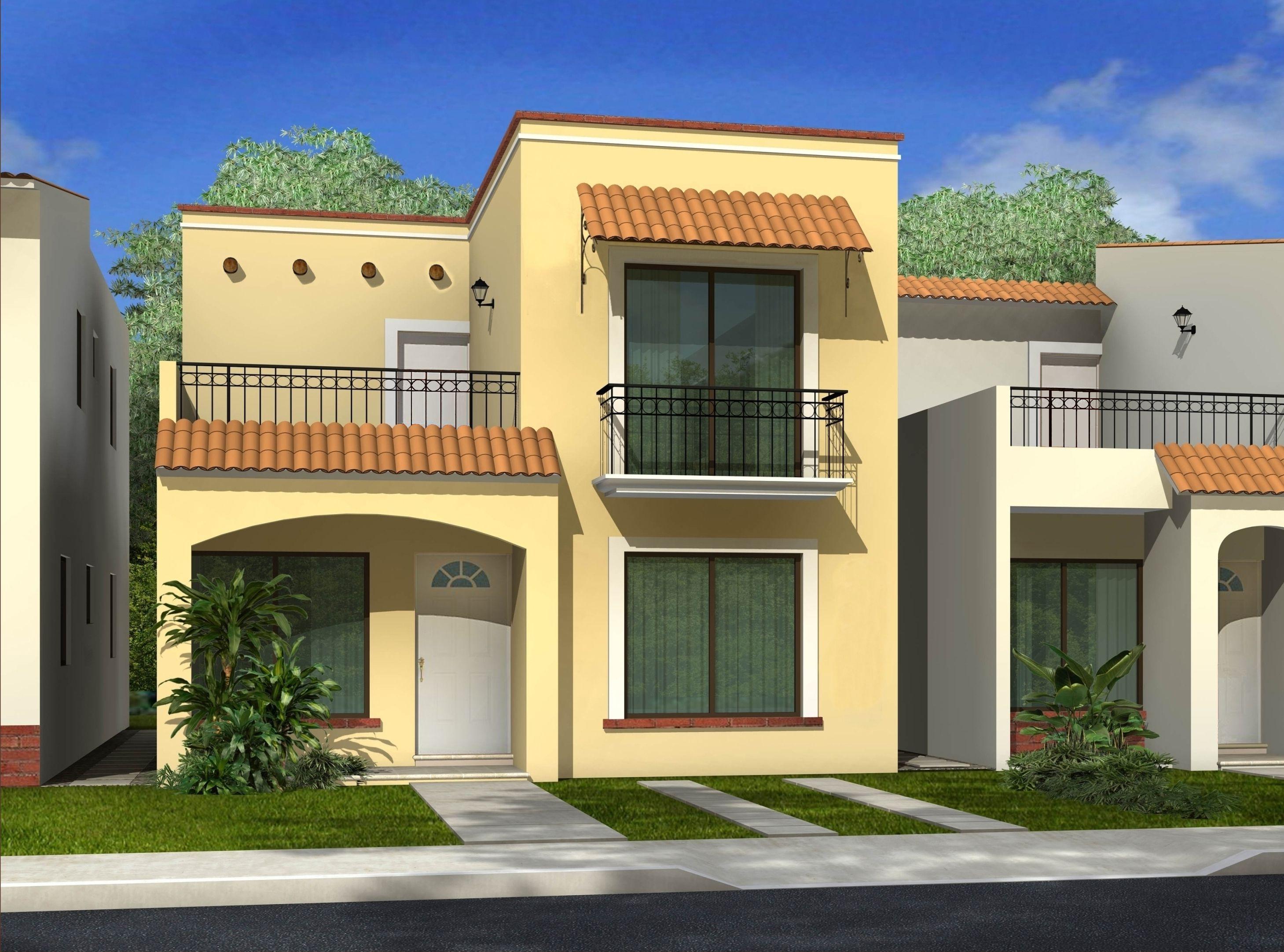 Fachadas Bonitas Y Sencillas Lindo Small House Architecture Two Story House Design Small House Design Plans