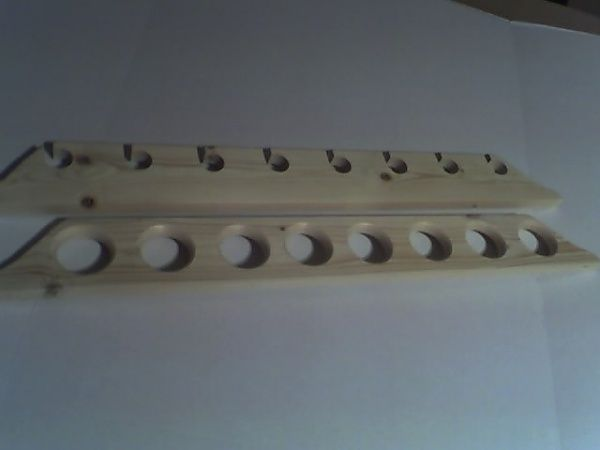 Build fishing rod wall rack wall mounted rod holders il for Homemade fishing rod holders