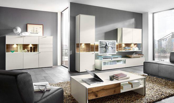 venjakob wohnzimmer- / wohnwand-programm sentino online kaufen auf ... - Wohnzimmer Eiche Weis