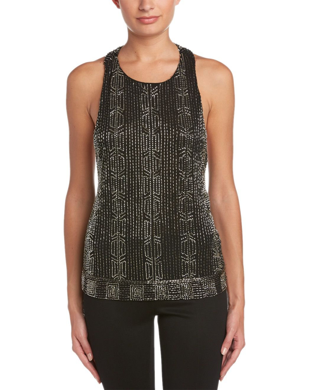Spotted this alice + olivia Brie Embellished T-Back Tank on Rue La La. Shop (quickly!).  Date night. ❤️