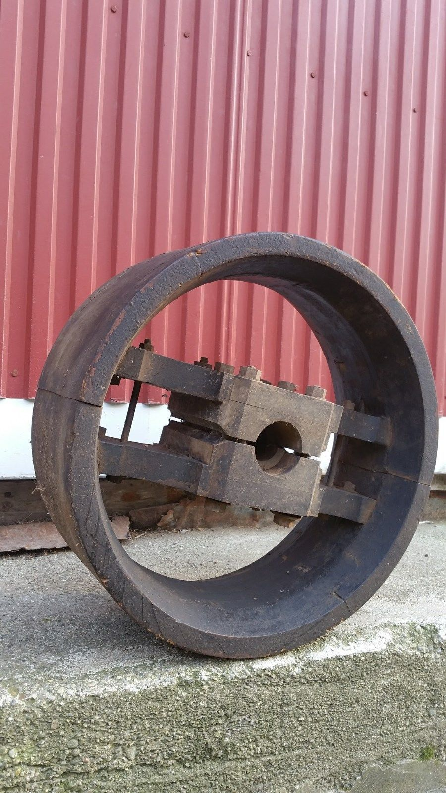 22 Inch Industrial Vintage And Antique Flat Belt Mill Pulley Wooden Wheel Wooden Wheel Vintage Industrial Antiques