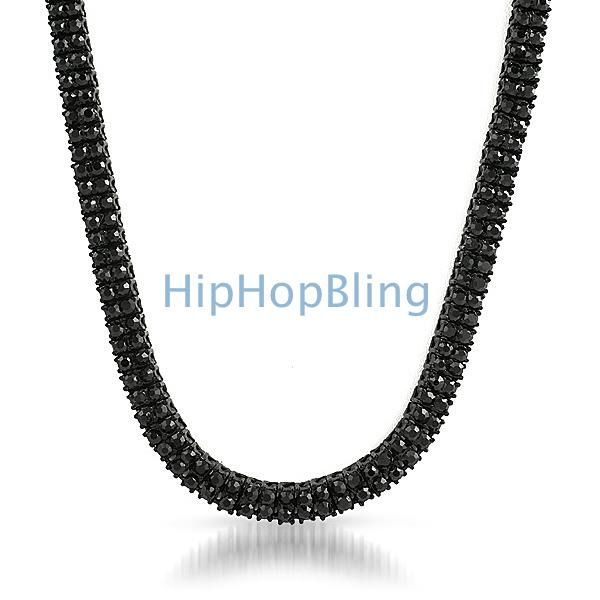 Black Hip Hop Chains Are The Hottest New Bling Accessory For Your Neck Get Iced Out With Hundreds Of Faux Diamonds On Chain
