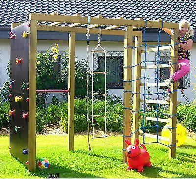 Klettergerüst Kinderzimmer klettergerüst 2 4m kletterturm spielturm mit kletternetz