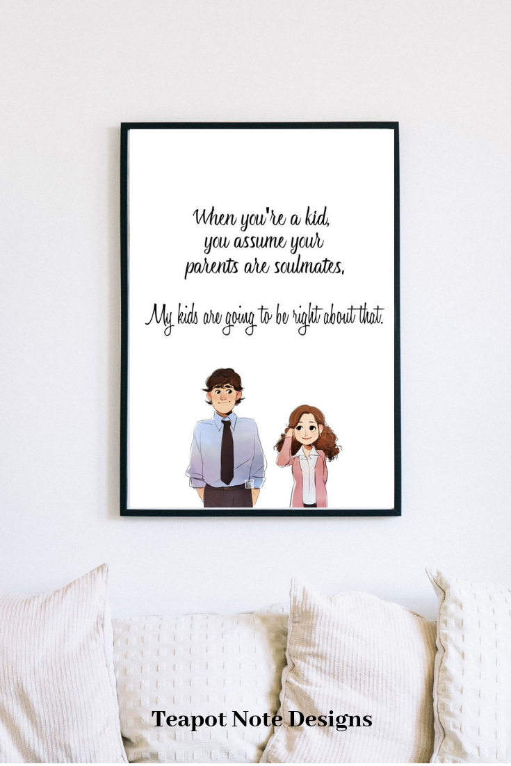 Jim And Pam Soulmates Quote The Office Tv Show Instant Etsy Jim And Pam Quotes Soulmate Quotes The Office Wedding