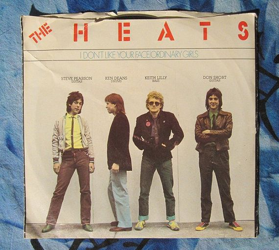 The Heats I Don T Like Your Face Ordinary Girl 1980 Rock 7 45 Rpm Vinyl Record With Picture Sleeve 25 Vinyl Records Ordinary Girls Vinyl