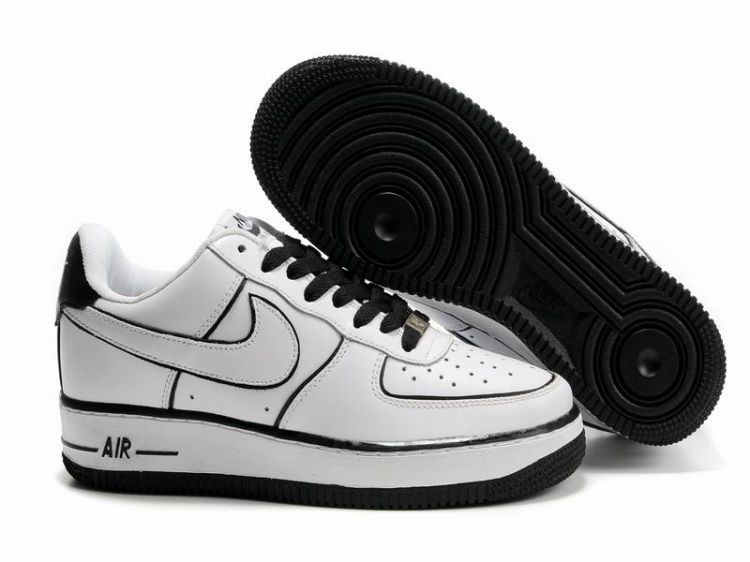 Women Nike Air Force 1 25th Low Shoes White Black Line