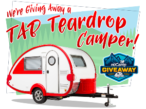 Enter for a Chance to Win a nuCamp TAB Camper!   Sweepstakes