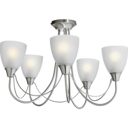Symphony 5 Light Ceiling Fitting Silver Homebase Ceiling