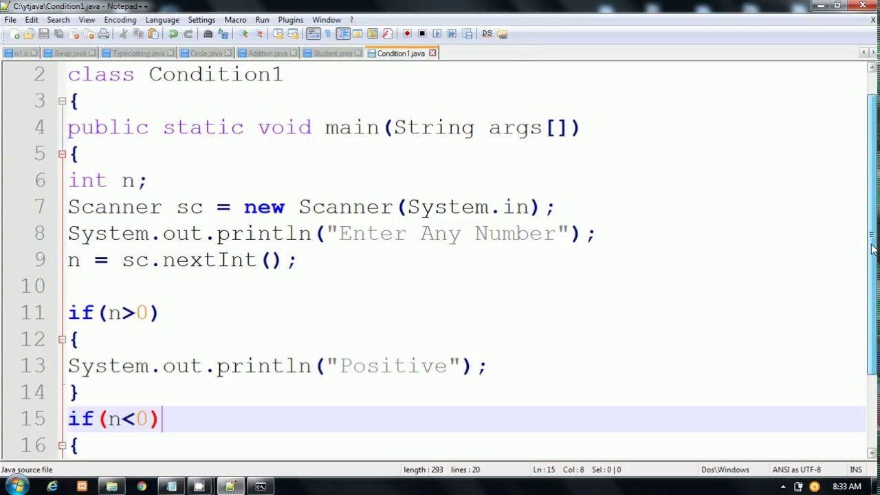 if else statement examples in Java By Pankaj Panjwani (YCT