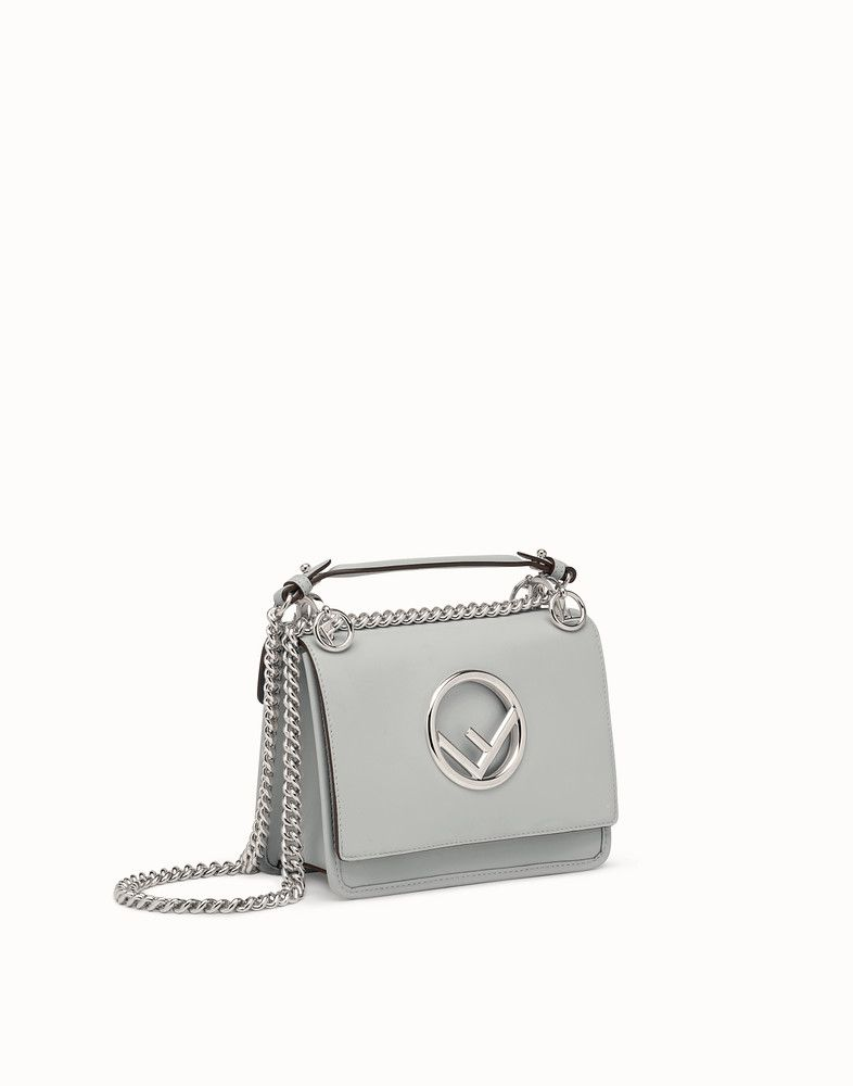 a1dd627dd0b7 FENDI KAN I F SMALL - Gray leather mini-bag - view 2 detail