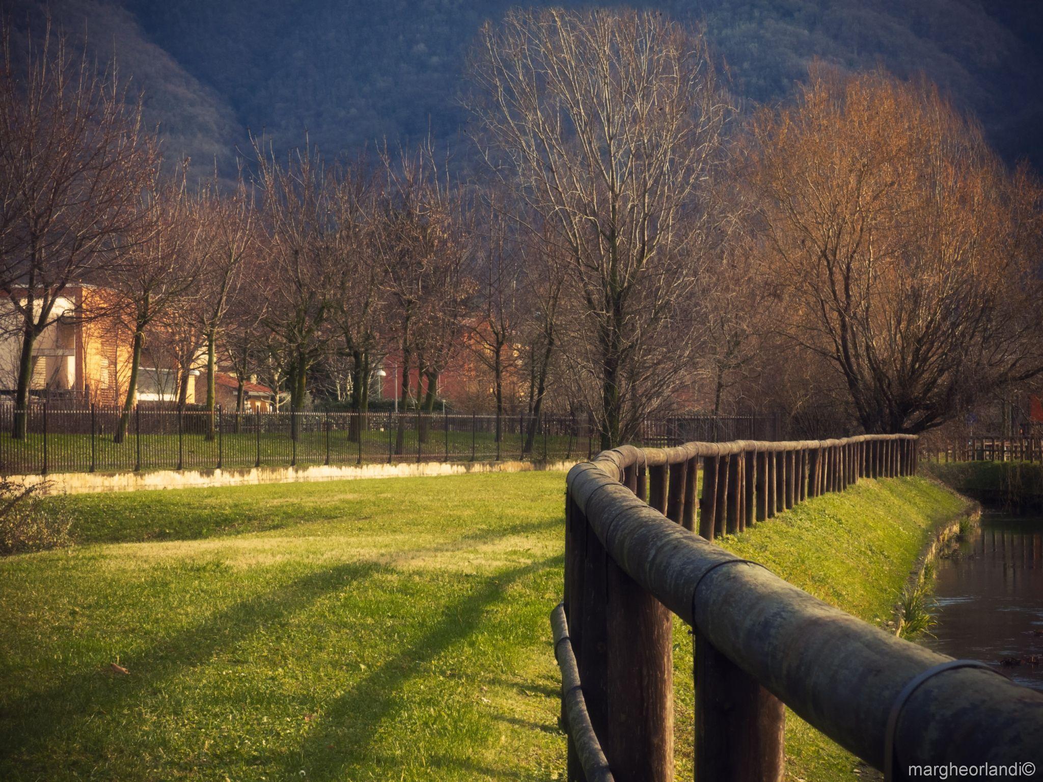 Autumn colors - Landscape in Brescia (northern Italy)