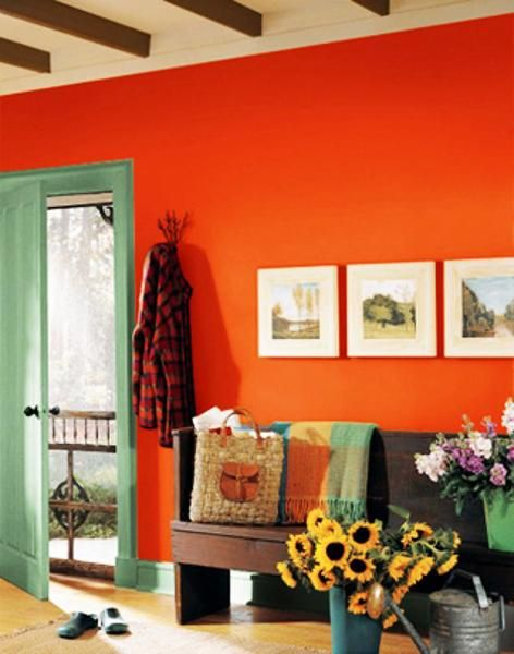 Lovely Matching Colors Of Wall Paint, Wallpaper Patterns And Existing Home  Furnishings