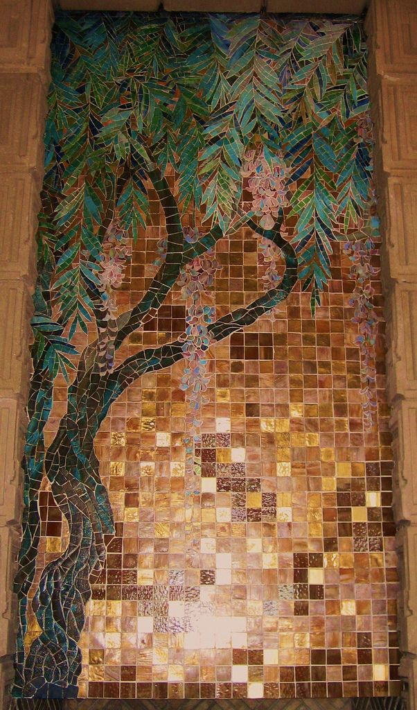 Ennis House has the only remaining original Frank Lloyd Wright glass tile mosaic